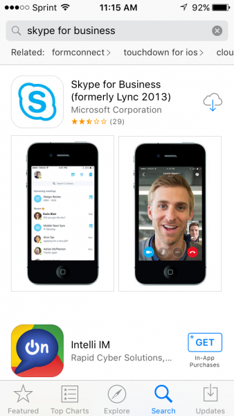 Lync Mobile App (Skype for Business) | Information Technology