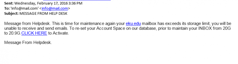 latest phishing