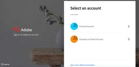 If prompted, select Company or School Account and then enter your password. Or provide your credentials in your school's login screen.