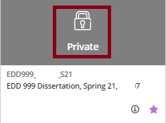 If you see a lock and 'Private' on the course, your instructor has not made the course available to students yet.  Only instructors can make a course available so you should reach out to them.