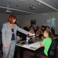 Dr. Violette & Class in Incubator Classroom
