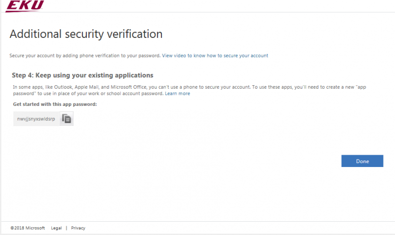 In 'Step 4: Keep using your existing applications' screen click Done.