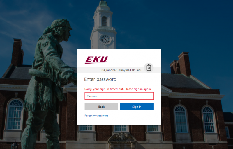 On the web login page, you will probably need to type in your password again.  Click Sign in.