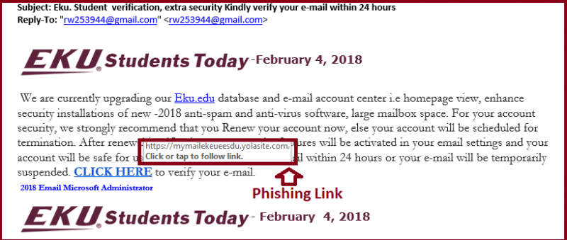 Eku. Student  verification, extra security Kindly verify your e-mail within 24 hours