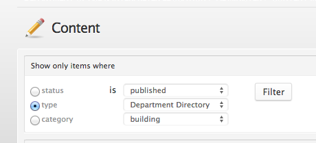 Department Directory