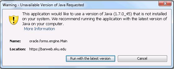Java 7 Update 67 | Information Technology